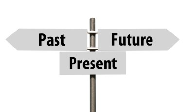 Past, Present and Future sign